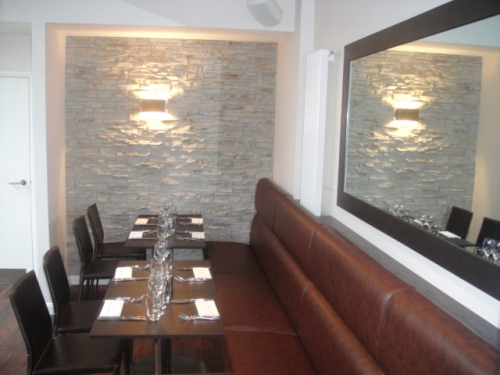 Aqua restaurant croydon use PR-20 as a feature wall