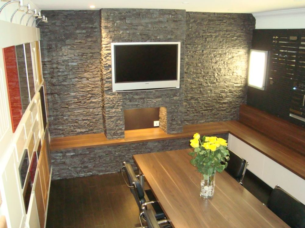 Dreamwall slate wall installed by Creative design ayr ltd