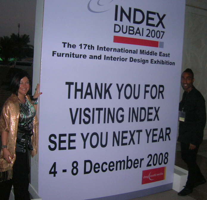 Hannah Coleman and Simon Webbe attending the INDEX INTERIOR DESIGN SHOW 2007