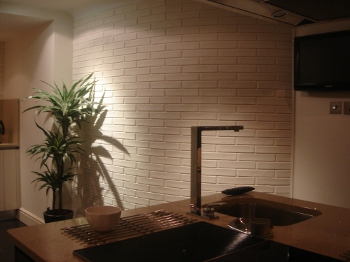 Picture courtsey Lynne Tomlinson 'Gorgeous white brick wall installation)