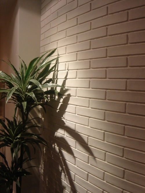 Picture courtsey Lynne Tomlinson ' Dreamwall white brick installation'