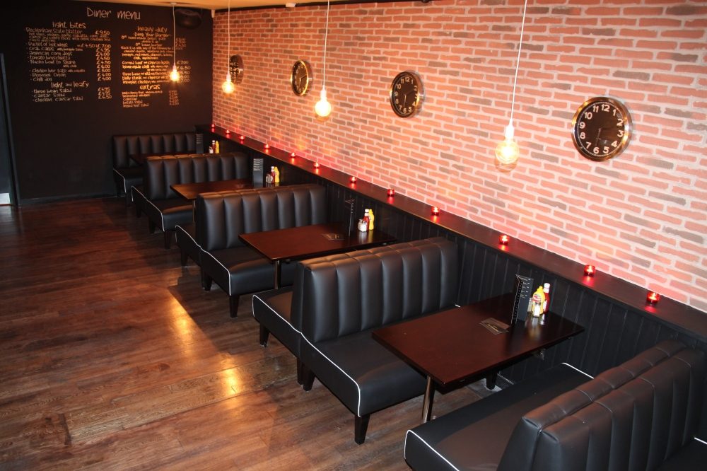 Dreamwall's Red Brick used in Beckenham cocktail lounge South London