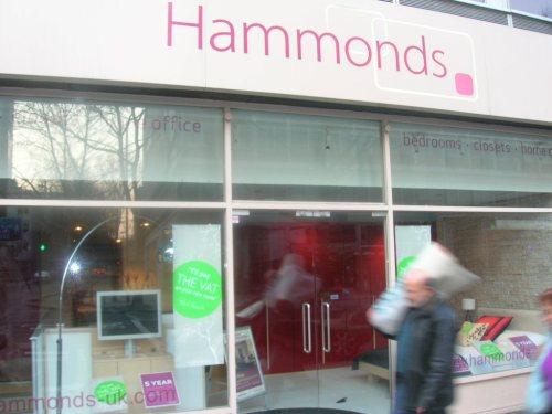 Hammonds Furnite on Tottenham Court Road show casing Dreamwall (WALLS)