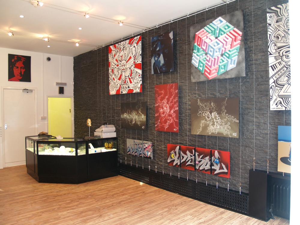After photograph of the final installation of Dreamwall slate wall