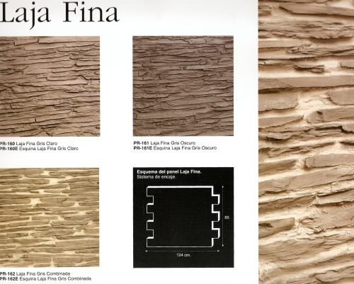 Laja Fina the collection of ranges from the Dreamwall Stone panel slates.