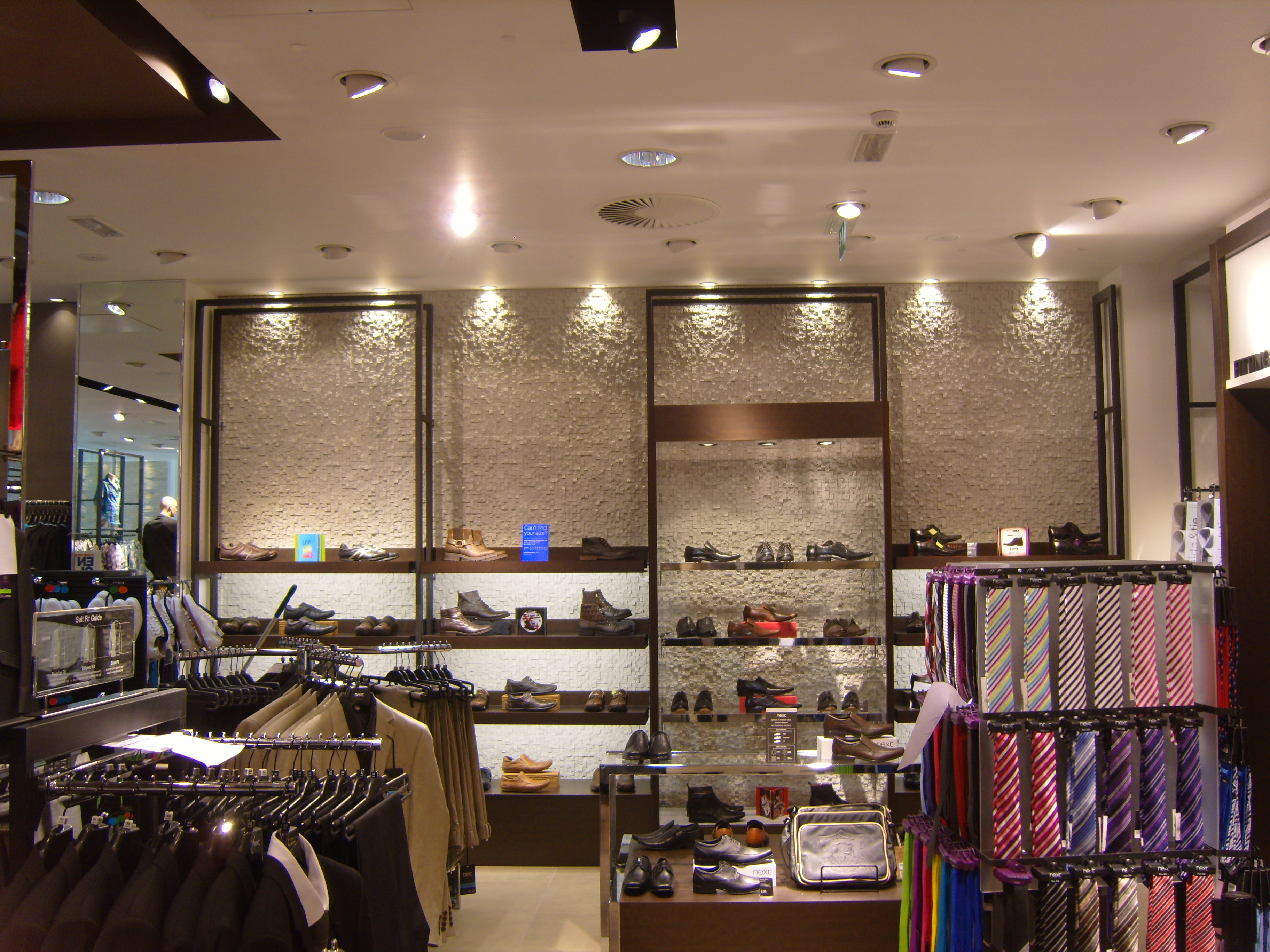 Next shop interiors retail walls contemporary walls white cubic panel dreamwall for Shop designs interior
