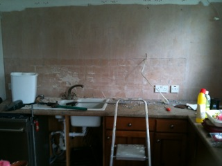 Kitchen in the middle of revamp