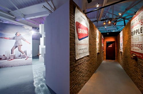 Dreamwall's PR70 Red Brick wall panel used for Clark shoes