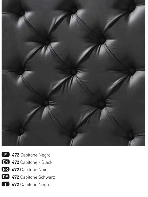 capitone in black details