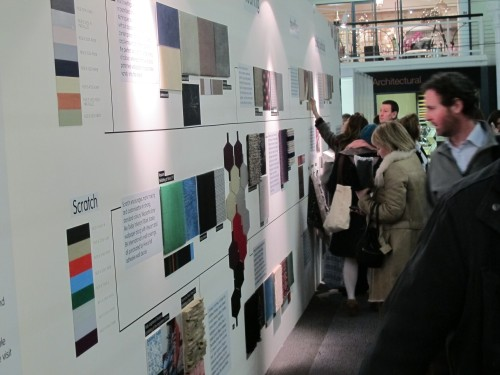 Visitors at surface design mixed trend wall