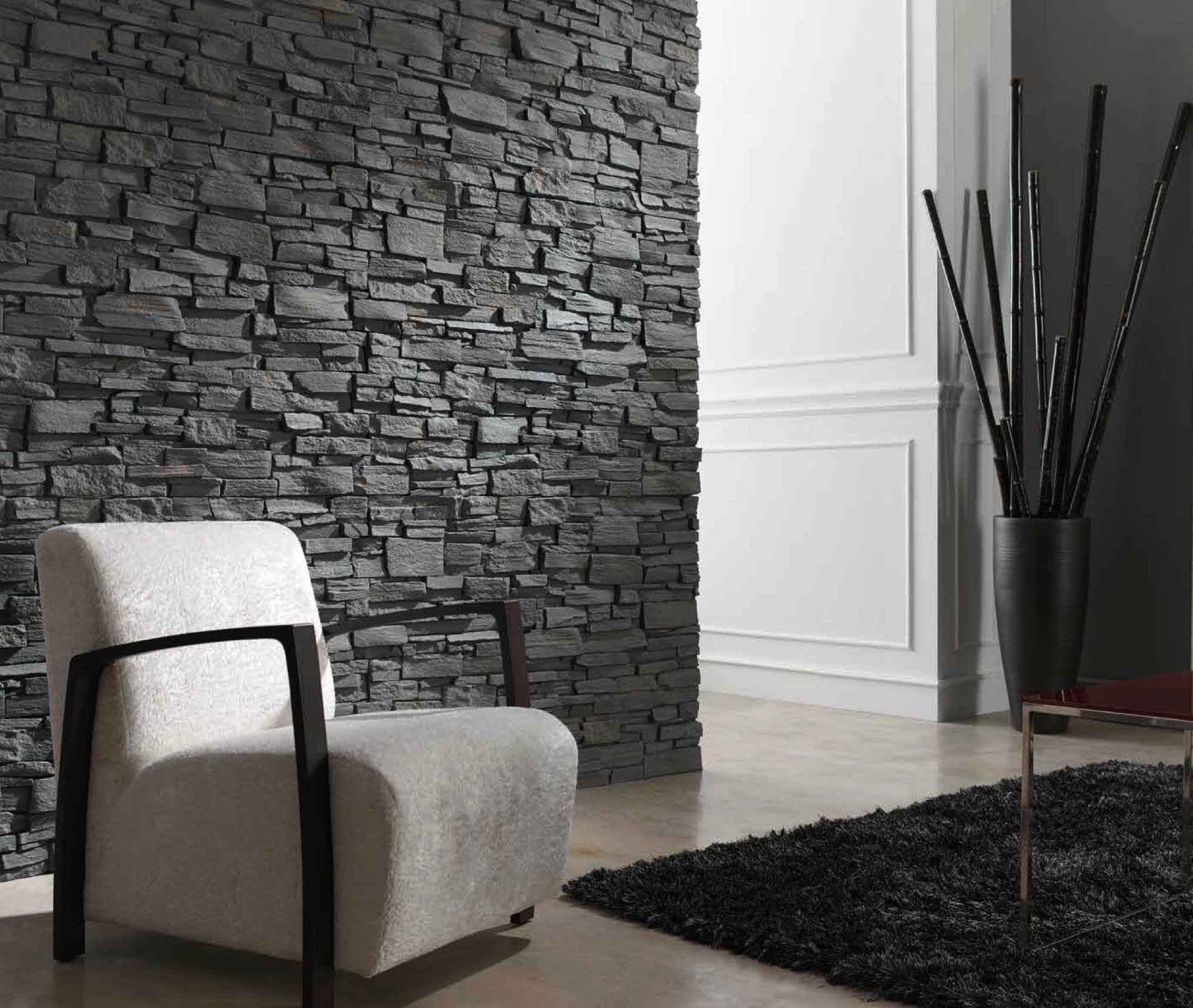 Decorative Stone Accent : Where to buy fake stone dreamwall wallcoverings with a