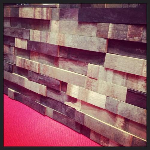 DESIGN ONE:  MERLOT recycled oak wood panels