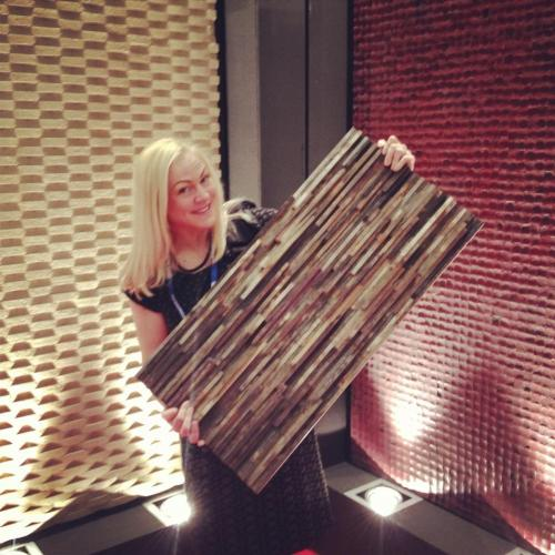 DESIGN THREE: SELECTION  recycled wood panels