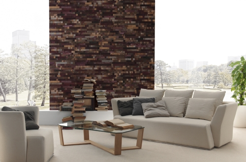 DESIGN ONE:  MERLOT recycled wood panels