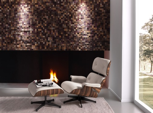 DESIGN TWO: PROMINENT recycled wood panels