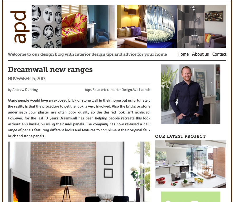 Dreamwall Featured on the APD Interiors Blog