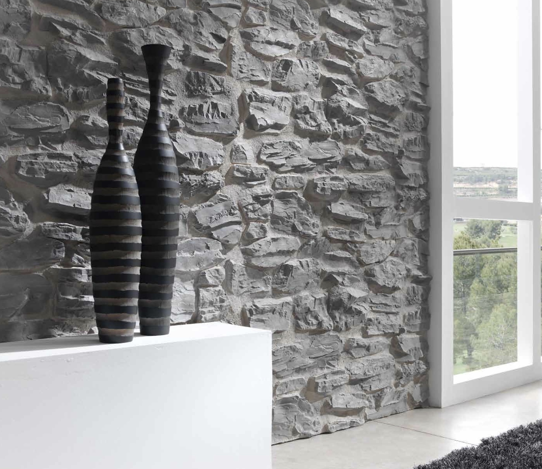 Pirineos faux stone wall panels dreamwall for Pannelli finta pietra brico