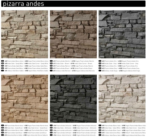 PIZARRA ANDES SLATE COLOUR OPTIONS