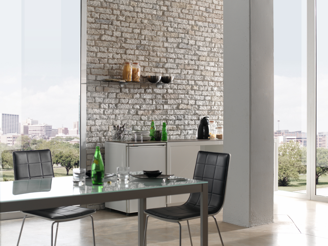Loft Faux Brick Panels Dreamwall Wallcoverings With A