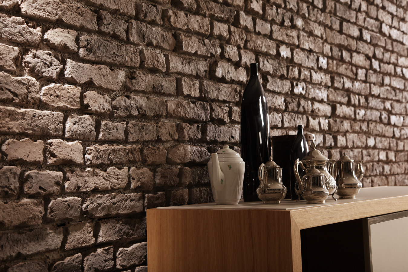 Brick Wall Paneling : Fake brick wall panels dreamwall wallcoverings with a