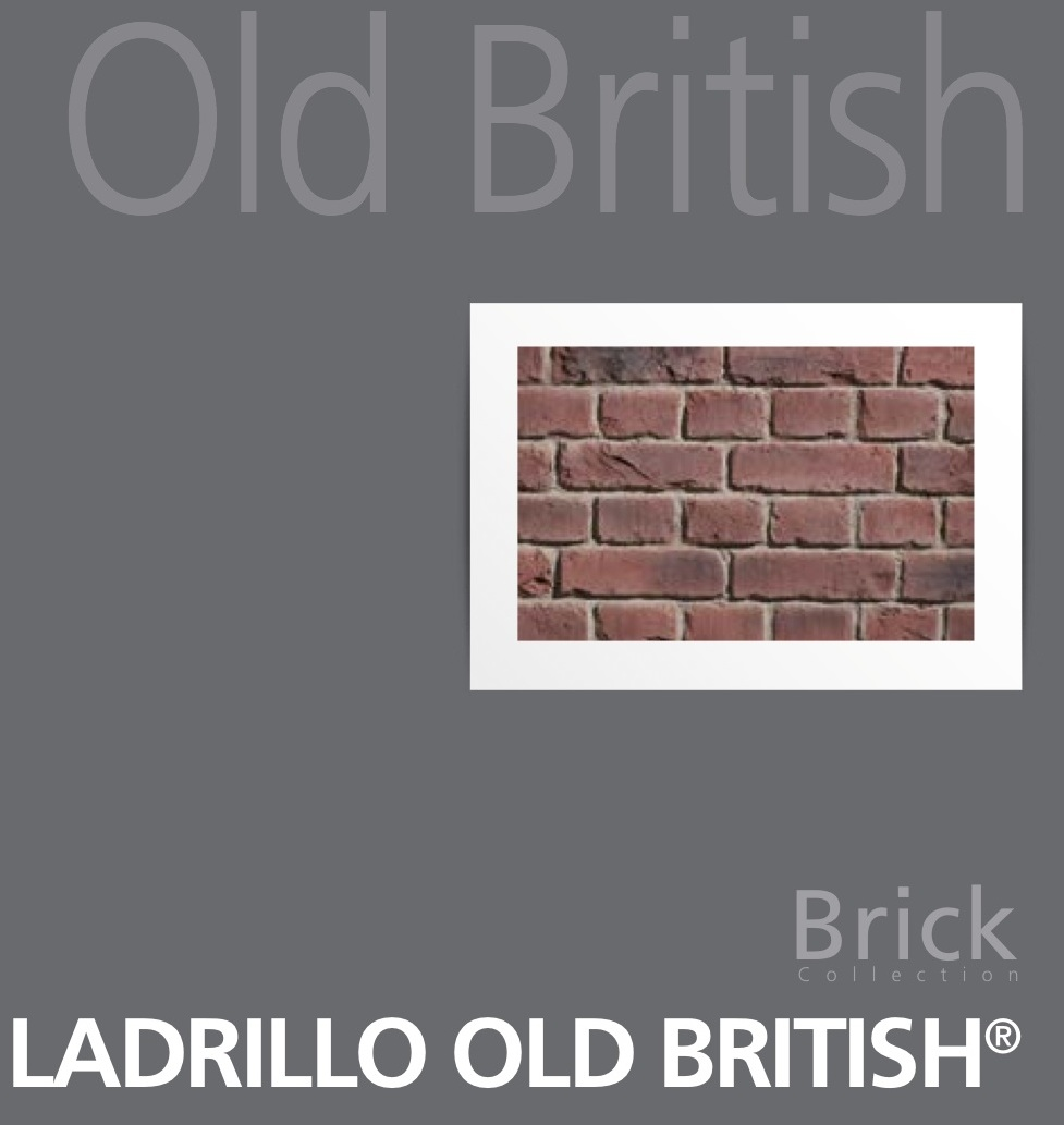 Old British fauxbrick wall panels in six colour options from Dreamwall