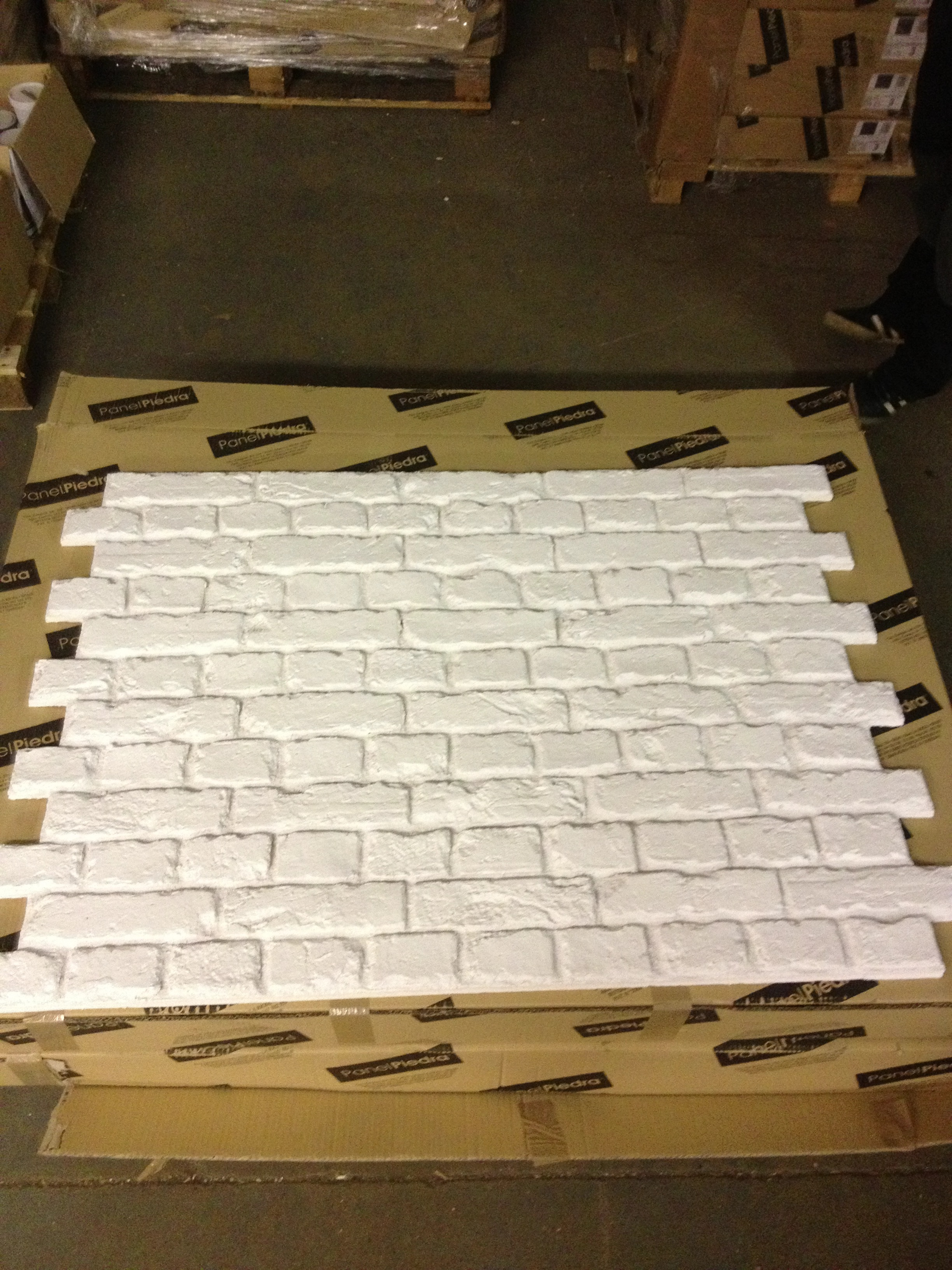 In stock pr 551 white fauxbrick wall panels dreamwall - Artificial brick wall panels ...