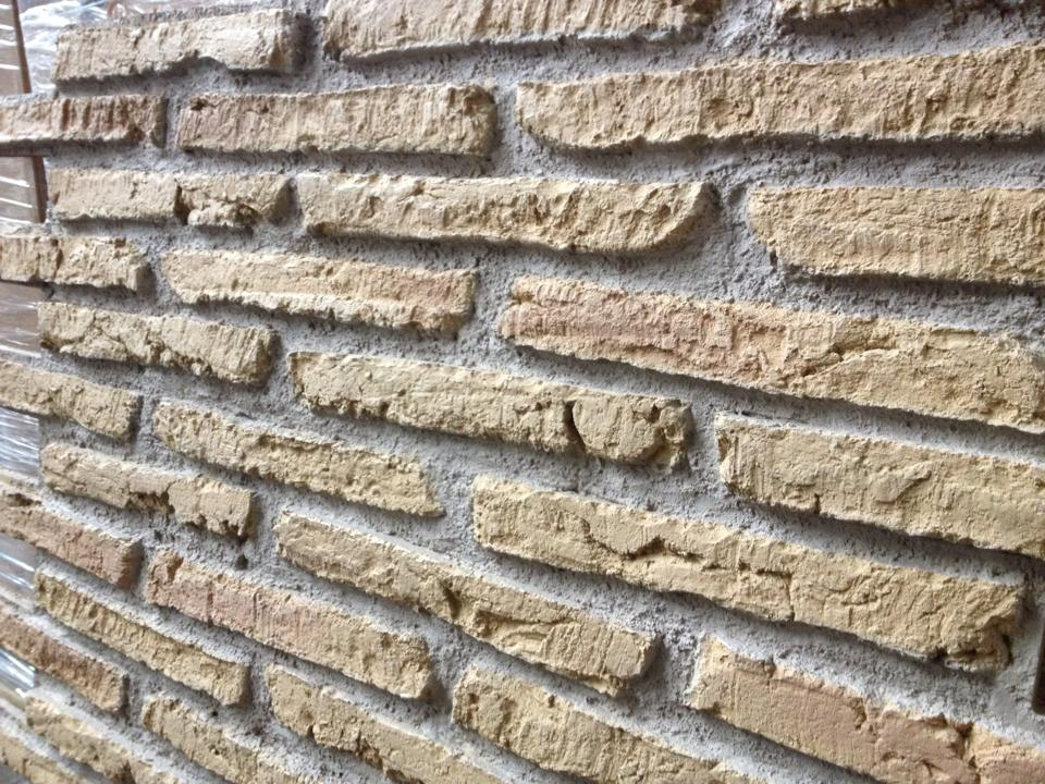 Ochre faux brick wall panel from dreamwall pr 483 uk stock - Artificial brick wall panels ...