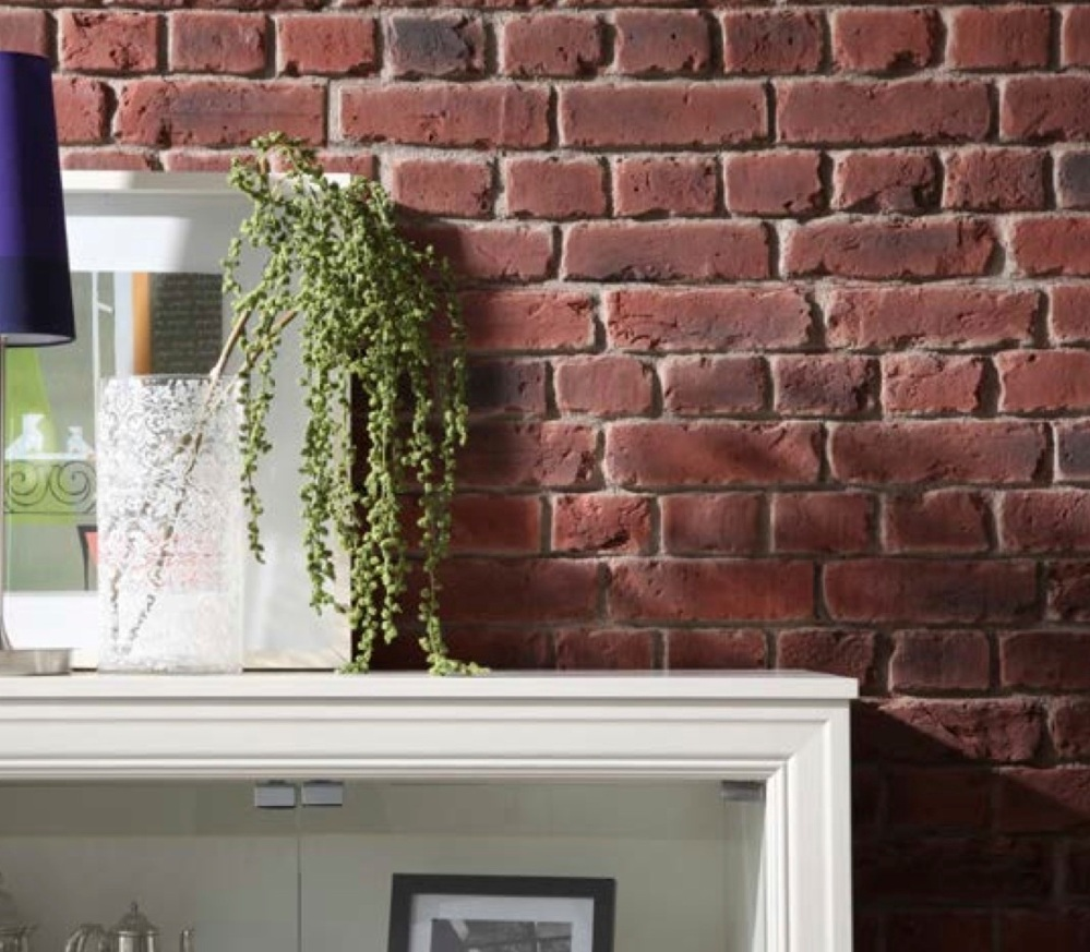 RED BRITISH BRICK Red Faux brick wall panel from Dreamwall PR 550 UK STOCK OF FAUX BRICK