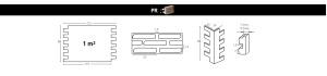 PR 540 - Faux Brick Wall Panels panel size
