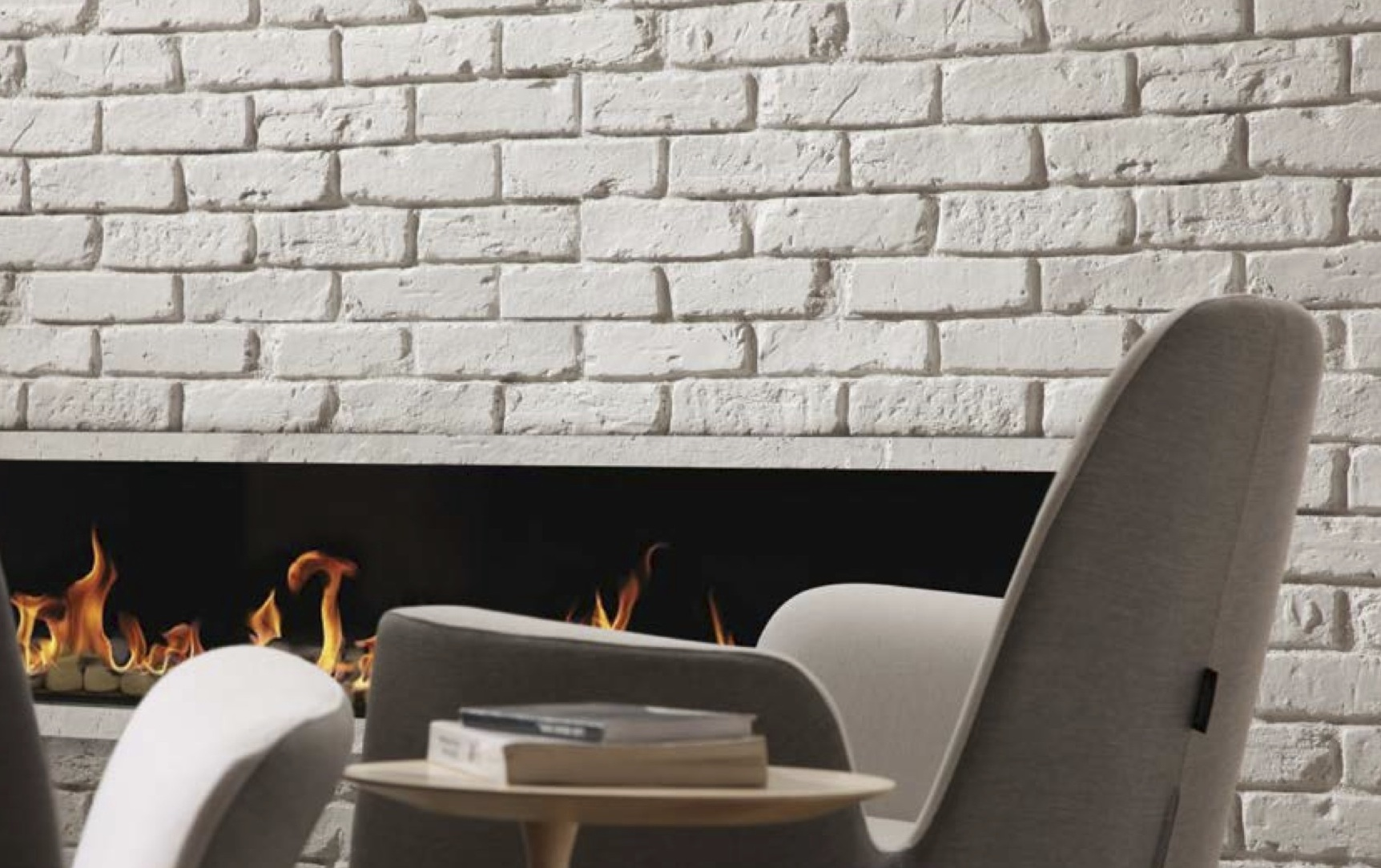 WHITE BRITISH FAUXBRICK WALL PANELS Dreamwall Wallcoverings With A