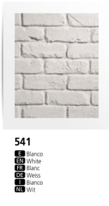 Dreamwall FauxBrick wall panel PR 541 White British Brick