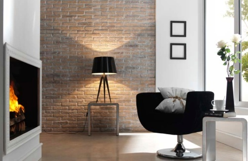 PR 79 - Faux brick wall panels Earthy whitewashed Rustic Brick