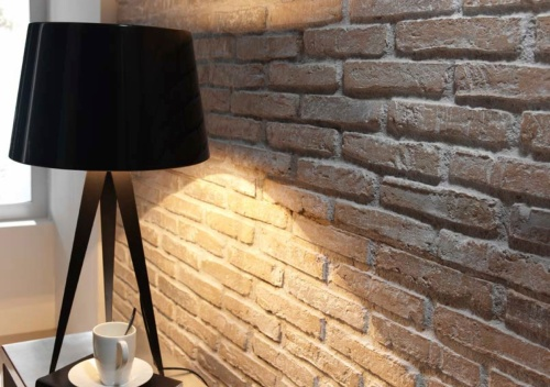 Earthy whitewashed fauxbrick rustic brick wall panels - Artificial brick wall panels ...