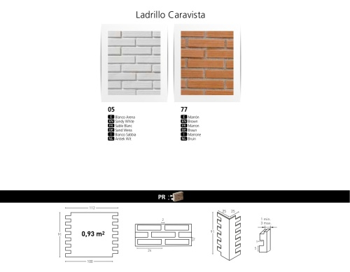 LADRILLO CARAVISITA FAUXBRICK WALL BOARDS