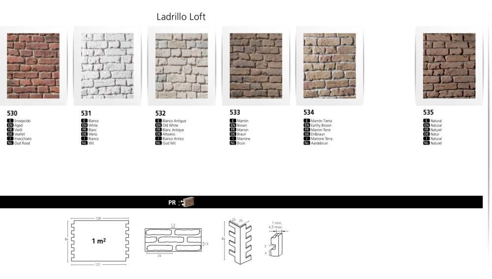 LADRILLO LOFT FAUX BRICK WALL BOARDS
