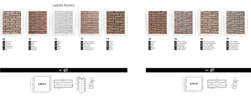 LADRILLO RUSTIIC FAUX BRICK WALL BOARDS