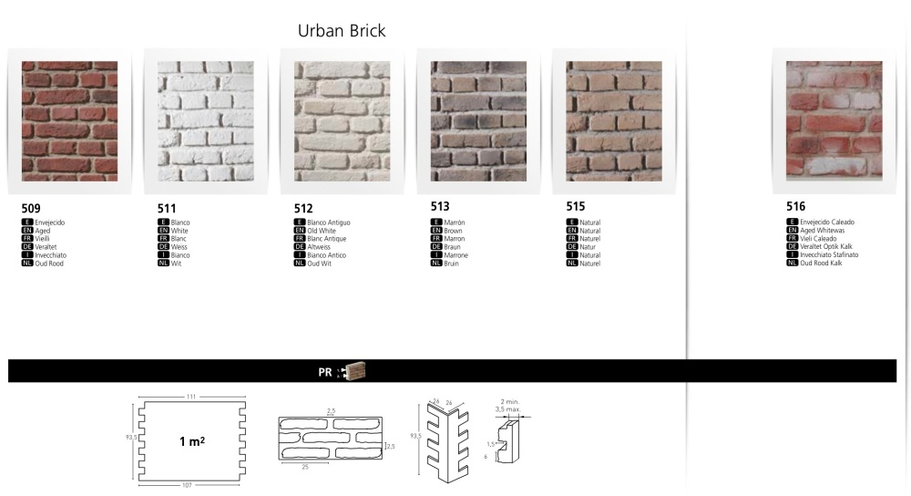 URBAN BRICK FAUX BRICK WALL BOARDS