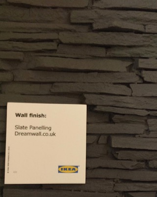Dreamwall Panels on display in IKEA Cardiff & Reading PR 442 Pizarra Alpes
