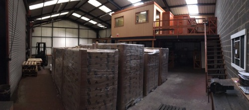 Our UK Warehouse with ready to ship UK stock of wall panels