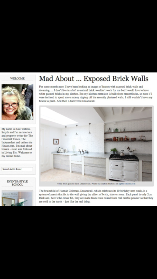 Dreamwall Faux white brick wall boards