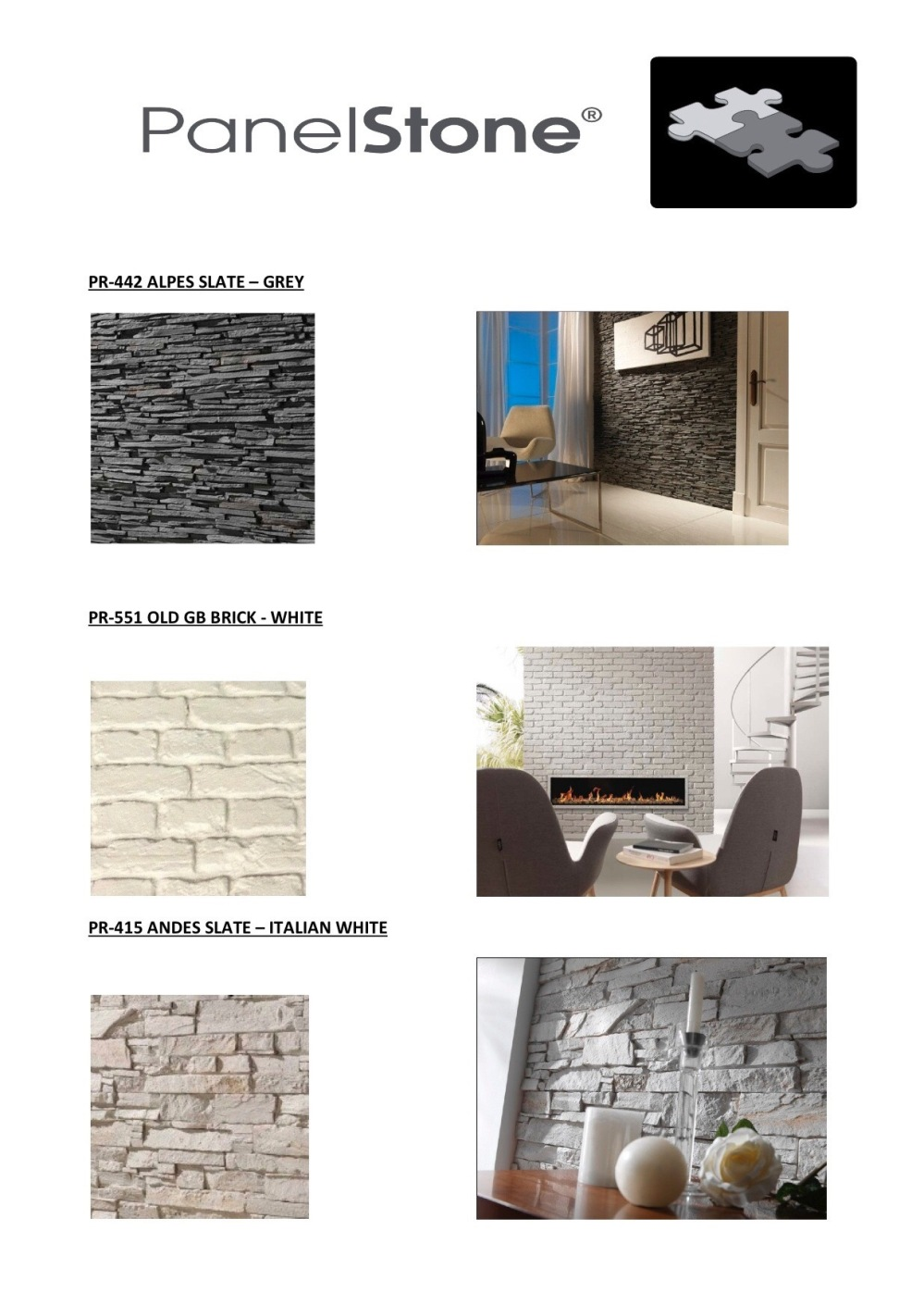 UK Stock of Dreamwall - Panel Stone panels