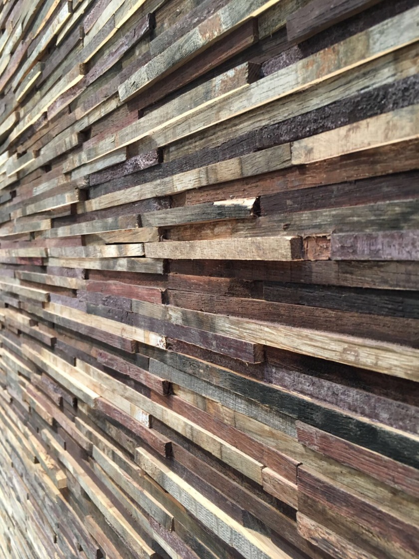 Nature range of recycled Rioja wall panels
