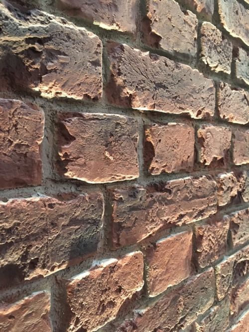Red brick wall panels
