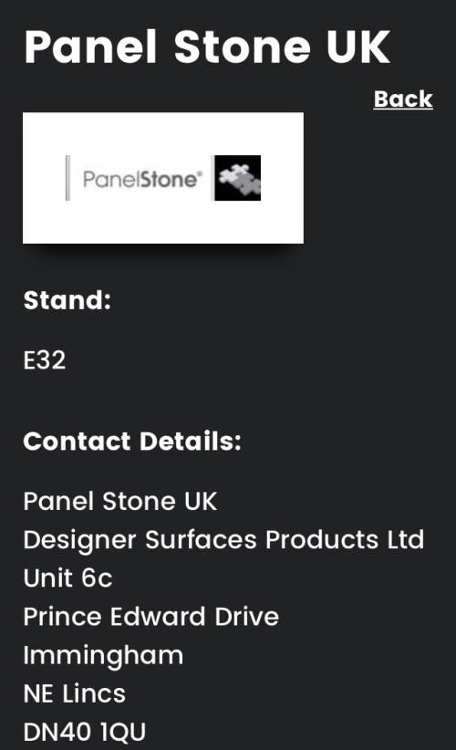 Retail Design Expo 2017 Panel Stone UK E32