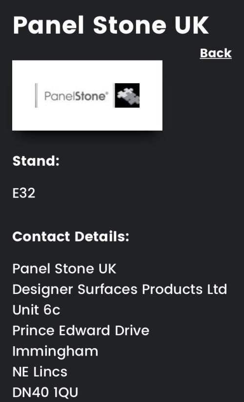 Retail Design Expo 2017 Panel Stone UK E32