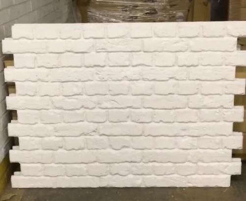 White brick wall panels easy to install faux brick