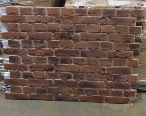 Red brick wall panels easy to install faux brick