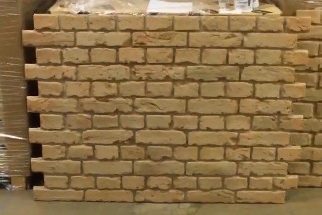 Natural brick wall panels easy to install faux brick