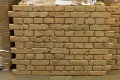 Natural brick wall panels easy to install faux brick