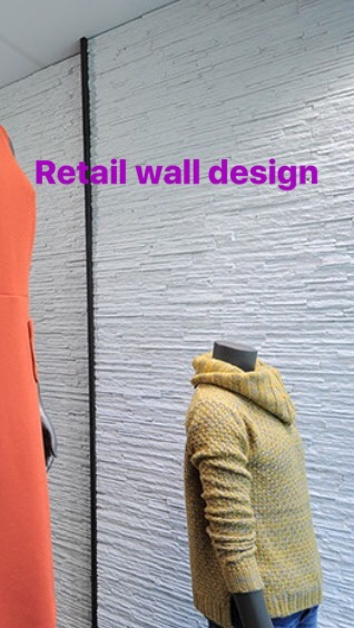 Retail design wall panels from Dreamwall